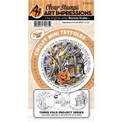 541904 Art Impressions Circlet Mini Tryfolds Stamp & Die Set Halloween
