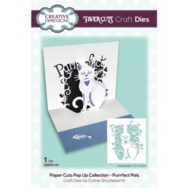CEDPC1151 Creative Expressions Craft die paper cuts Purrfect pals