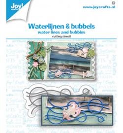 6002/1477 Joy!Crafts Cutting & embossing Waterlijnen en Bubbels