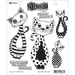 428553 Dyan Reaveley's Dylusions Cling Stamp Puddy Cat