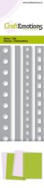 115633/0709 CraftEmotions Die - Cutting border - 4x pagina perforatie Card