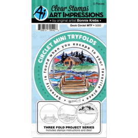 571598 Art Impressions Circlet Mini TryFolds Stamp & Die Set Dock