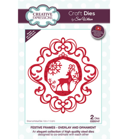 CED3147 The Festive Frame Collection Overlay and Ornament