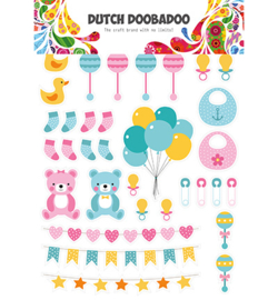 474.007.010 Dutch DooBaDoo Dutch Paper Art Baby elements