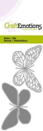 115633/0215 CraftEmotions Die  vlinder 2x Card 5x10cm