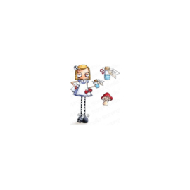 600716 Stamping Bella Cling Stamps Oddball Alice In Wonderland