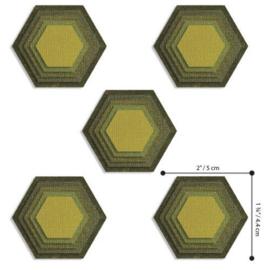 664420 Sizzix Thinlits Die Set Stacked Tiles, Hexagons by Tim Holt  Tim Holtz 25PK