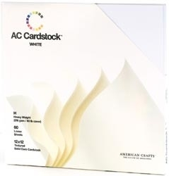 "71259 Cardstock Pack 12""X12"" White"