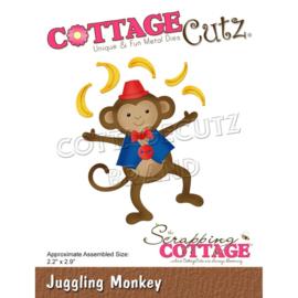 "CC865 CottageCutz Dies Juggling Monkey 2.2""X2.9"""