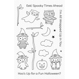 "CS497 My Favorite Things Clear Stamps Halloween Hoo 4""X6"""