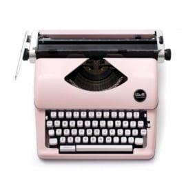 WRTYPE 310297 We R Typecast Typewriter pink