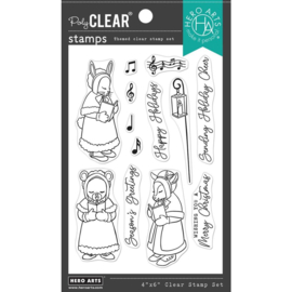 """664548 Hero Arts Clear Stamps Christmas Carolers 4""""X6"""""""