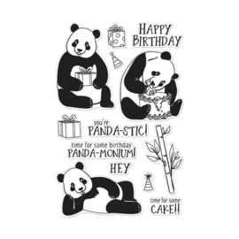 "659561 Hero Arts Clear Stamps Birthday Panda 4""X6"""