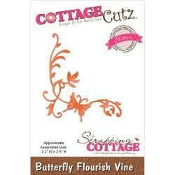 "423123 CottageCutz Elites Die Butterfly Flourish Vine, 2.2""X2.5"""