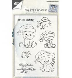 6410/0434 Stempel Kerst beertjes/kindjes
