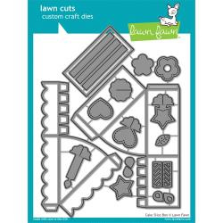 LF1973 Lawn Cuts Custom Craft Die Cake Slice Box