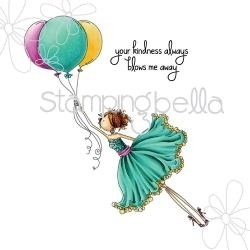 176101 Stamping Bella Cling Rubber Stamp Uptown Girl Bentley Gets Blown Away
