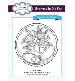 UMS848 To Die For Stamp Carol's Festive Bells