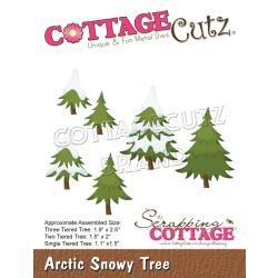 "CC705 CottageCutz Dies Arctic Snowy Tree, 1.1"" To 2.6"""