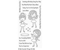 CS-326 My Favorite Things Friendship Rocks Clear Stamps