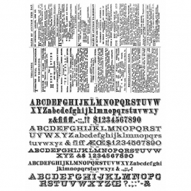 CMS 266 Tim Holtz Cling Stamps Newsprint & Type