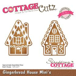 "473755 CottageCutz Elites Die Gingerbread House Minis 1.6""X2.1"""