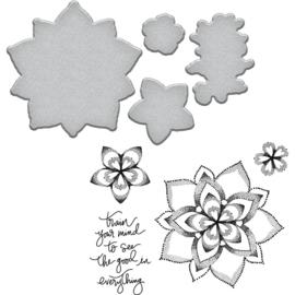SDS101 Spellbinders Stamp & Die Set Good Vibes-Dot Mandala By Stephanie Low