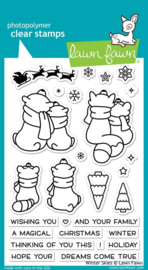 "LF1763 Lawn Fawn Clear Stamps Winter Skies 4""X6"""
