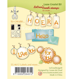 55.4612 Leane Creatief Clear Stamp Labels and more