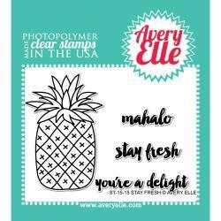 "488558 Avery Elle Clear Stamp Set Stay Fresh 4""X6"""