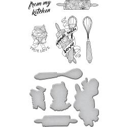SDS074 Spellbinders Stamp & Die Set Kitchen Collection