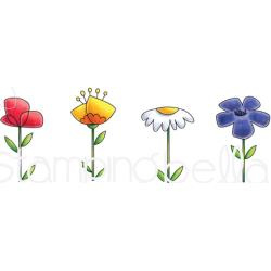 265878 Stamping Bella Cling Stamps Little Bits Floral