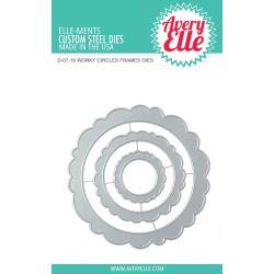 541760 Elle-Ments Dies Wonky Circles Frames