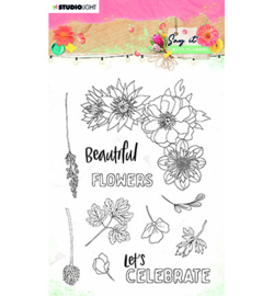 SL-SWF-STAMP526 StudioLight SL Clear Stamp Say it with flowers nr.526