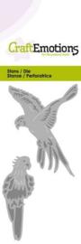 115633/0211 CraftEmotions Die  papegaai Card 5x10cm