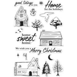 "520918 Hero Arts Clear Stamps Home For The Holidays 4""X6"""