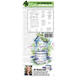 584626 Art Impressions Bible Journaling Watercolor Rubber Stamps Living Water