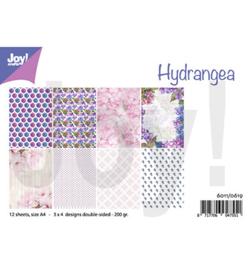 6011/0619 - Design Hydrangea Papier Set A4