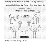 CS-374 My Favorite Things Oh My Gostrich Clear Stamps