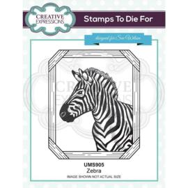 UMS905 Creative Expressions Pre cut stamp Zebra