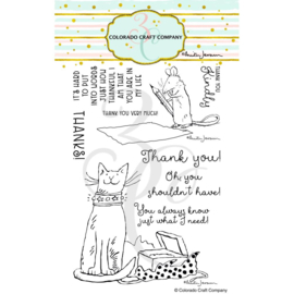 "651198 Colorado Craft Company Clear Stamps Thank You-By Anita Jeram 4""X6"""