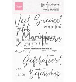 CS1049 Marianne Design Handgeschreven van Harte
