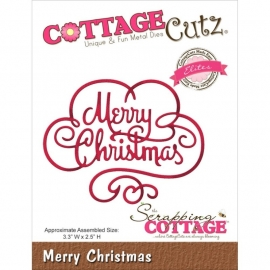 118623 CottageCutz Elites Die Merry Christmas