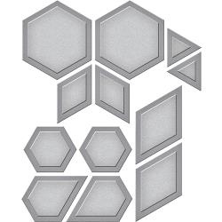 S4794 Spellbinders Shapeabilities Dies By Lene Lok Quilt It-Hexagon Quilt