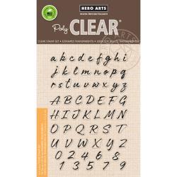 "HA-CM161 Hero Arts Clear Stamps Brushstroke Alphabet 4""X6"""