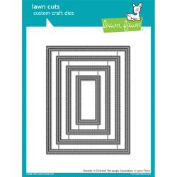 LF1442 Lawn Cuts Custom Craft Die Outside In Stitched Rectangle Stackables