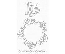 MFT-1608 My Favorite Things Joyful Wreath Die-namics