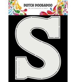 470.713.754 Dutch DooBaDoo Card Art Chocolade letter 'S'