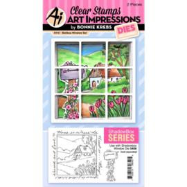 658962 Art Impressions Windows To The World Stamp & Die Set Mailbox Window Accessory