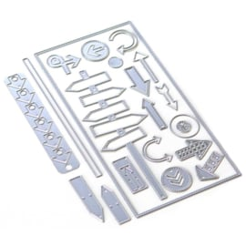 EC1804 Elizabeth Craft Metal Die Planner Essentials 29 Directions